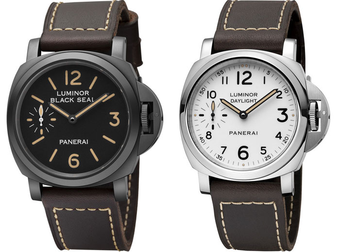 Panerai : un coffret de deux montres Editions Speciales Luminor Black Seal et Luminor Daylight