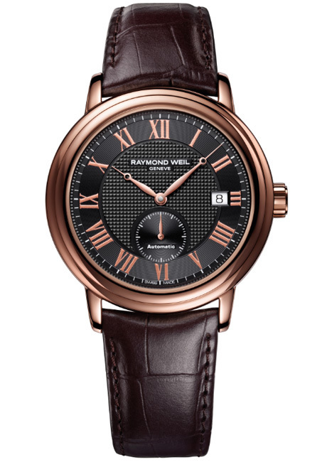 Raymond Weil Maestro Petite Seconde PVD or rose